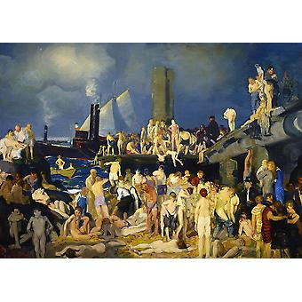 George Bellows - River Front Poster Print Giclee