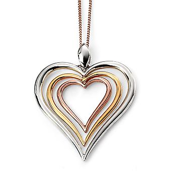 925 Silver Rose Gold Plated Ad Plated Rhodium Trend Necklace