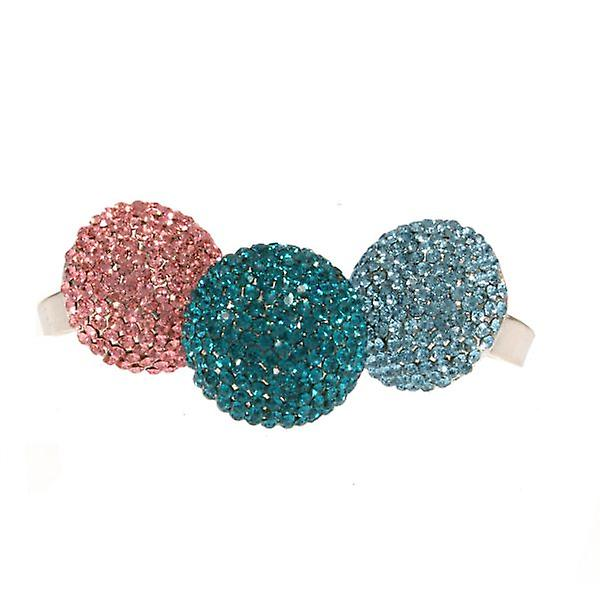 W.A.T Turquoise Sparkling Crystal Ball Ring