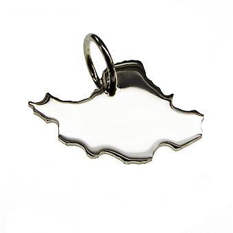 Trailer map IRAN pendant in solid 925 Silver