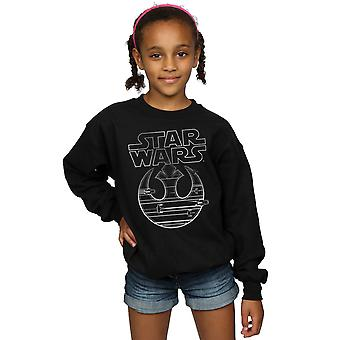 Star Wars Girls The Last Jedi Resistance Logo Metallic Sweatshirt