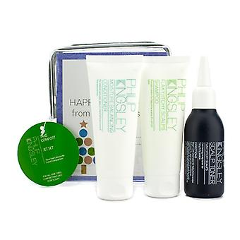 Philip Kingsley Take Comfort Jet Set: Shampoo 75ml + Conditioner 75ml + Flaky/Itchy Scalp Toner 75ml 3pcs