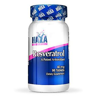Haya Labs Resveratrol 40mg. 60 Tablets (Sport , Others)