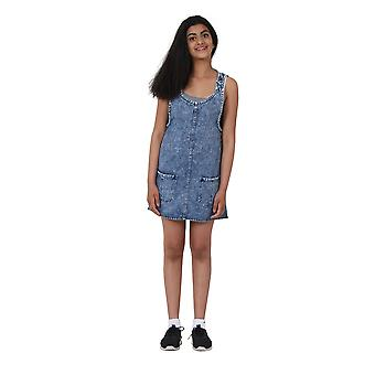 Stonewash Denim Pinafore età 10-16 anni Short denim vestito moda Teen