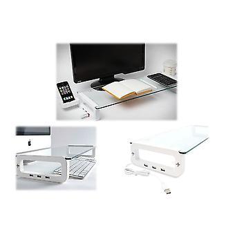 Neue intelligente Monitorständer mit 3 USB-Anschlüsse moderne Tastatur Schreibtisch