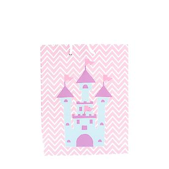 Children's Girls Pink Purple Fairy Castle Birthday Party Gift Bag
