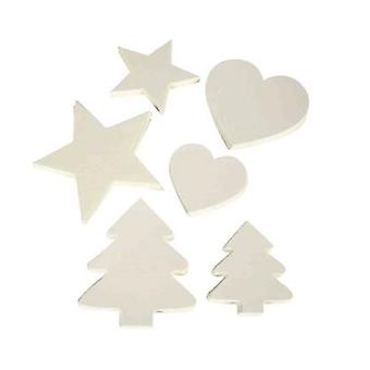 300 Assorted White Card Shapes for Christmas Craft Projects
