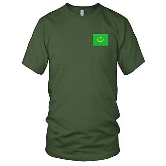 Mauritania Country National Flag - Embroidered Logo - 100% Cotton T-Shirt Mens T Shirt