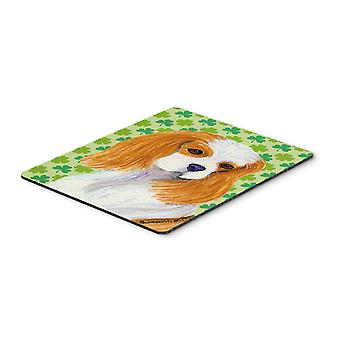 Cavalier Spaniel St. Patrick's Day Shamrock Mouse Pad, Hot Pad or Trivet