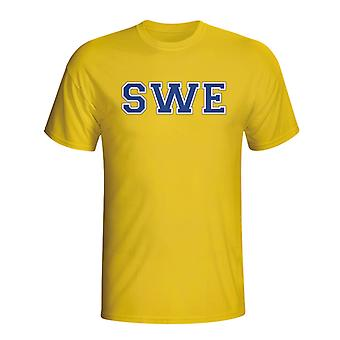 Sweden Country Iso T-shirt (yellow) - Kids