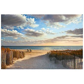 Sunset Beach plakat Print af Daniel Pollera (37 x 25)