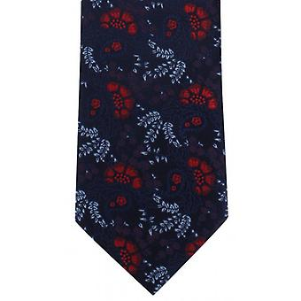 Michelsons of London Natural Floral Polyester Tie - Red