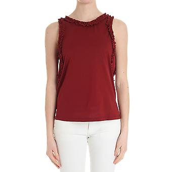 Caractere ladies G099A0869N37 red cotton top