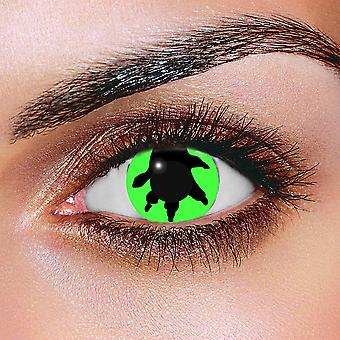 Green Dino Contact Lenses