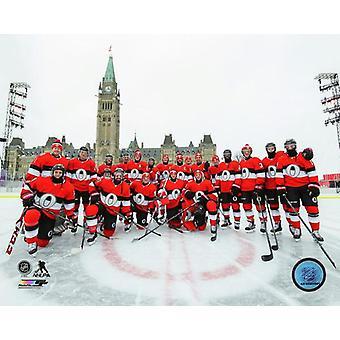 Ottawa Senators Team Photo 2017 Scotiabank NHL 100 Classic Photo Print
