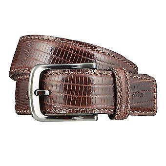OTTO KERN belts men's belts leather belt dark brown 3626