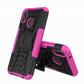 Voor Huawei P20 Lite hybrid case 2 stuk SWL buiten roze Pouch Pocket mouw cover bescherming