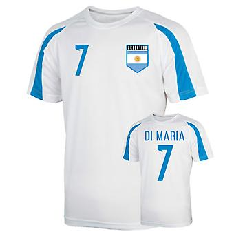 Argentinien Sports Training Jersey (di Maria 7) - Kinder