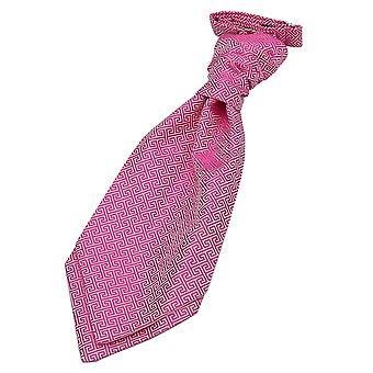 Fuchsia roze Griekse belangrijke vooraf gebonden bruiloft Cravat voor jongens