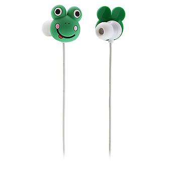 MY DOODLES Headphone Frog Green In-Ear
