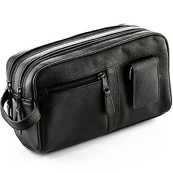 ZOHL Leather Travel Toiletry Bag With Manicure Set
