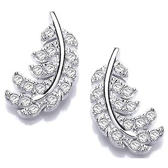 Cavendish French Small Feather Earrings - Silver