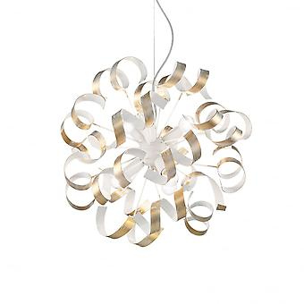 Ideal Lux Vortex Gold Gold And White Ribbon Type Globe Chandelier