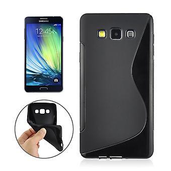 Beskyttende dække sagen TPU cover til mobil Samsung Galaxy A7 A700F sort