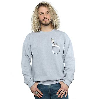 Looney Tunes mænds Bugs Bunny Faux lomme Sweatshirt