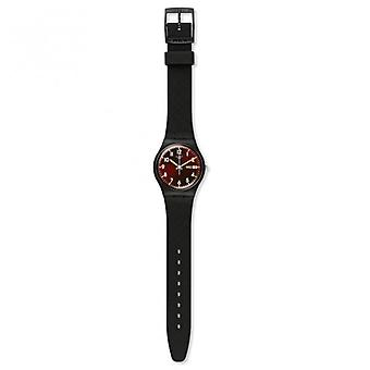 Swatch Gb753 Sir Red Silicon Watch