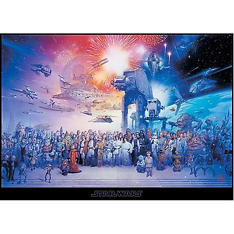 Star Wars XXL poster cast giant poster