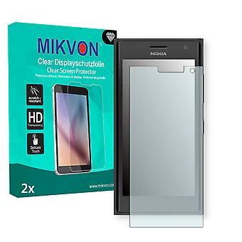 Nokia Lumia 730 Screen Protector - Mikvon Clear (Retail Package with accessories) (intentionally smaller than the display due to its curved surface)
