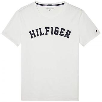 Tommy Hilfiger Organic Cotton Short Sleeved Crew Neck T-Shirt, Brilliant White, Small