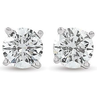 3 / 4ct rund diamant dubbar 14K vitt guld
