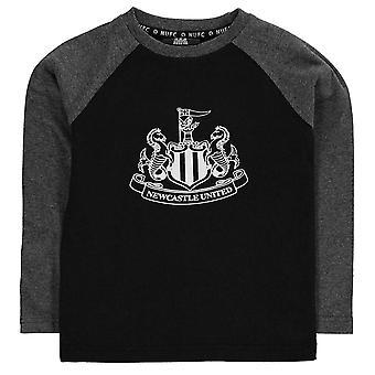 NUFC Kids Crest LS Tee Childs Shirt Long Sleeve