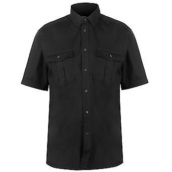 Pierre Cardin Mens C Mil SS Shrt Kortärmad Casual skjorta
