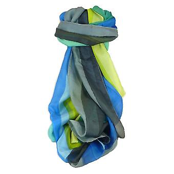 桑絹の古典的な長いスカーフ Srini 虹パレットでパシュミナ ・ シルク