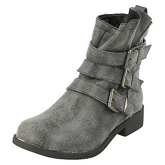 Damer plats på spänne rem detalj Ankle Boot