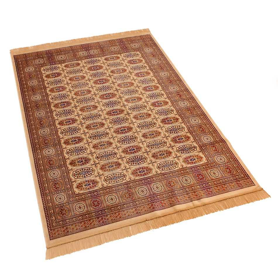 Large Traditional Persian Bokhara Artificial Faux Silk Effect Rugs 8438/4 160 x 230cm