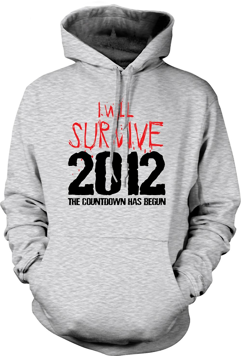 Mens Hoodie - 2012 I Will Survive Apocalypse End Of World