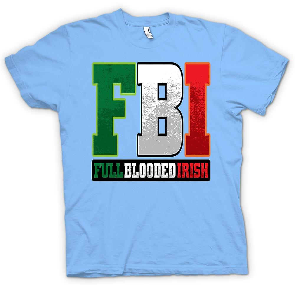 Mens T-shirt - St Patricks Day - FBI - Full Blood Irish