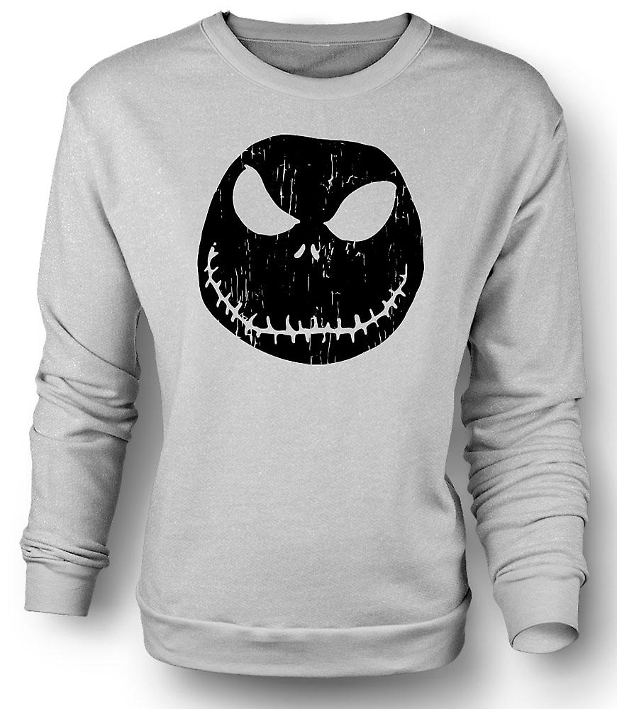 Mens Sweatshirt gruselig Halloween Kürbis - Smiley-Gesicht
