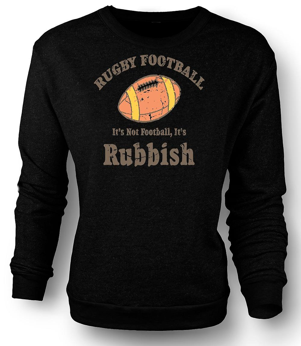 Sweatshirt Mens Rugby Football ordures - Funny