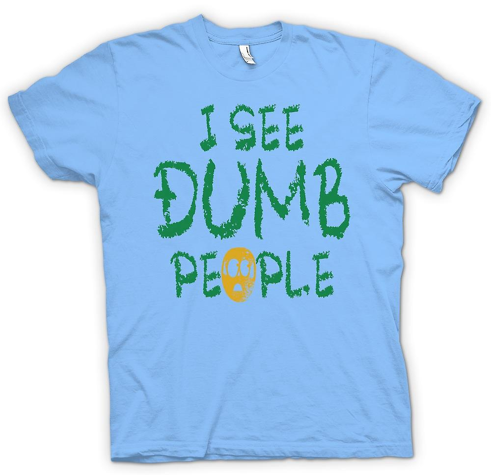 Mens T-shirt - I See Dumb People - Movie Inspired Funny