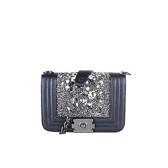 LMS schwarze Handtasche mit steinernen Verzierungen