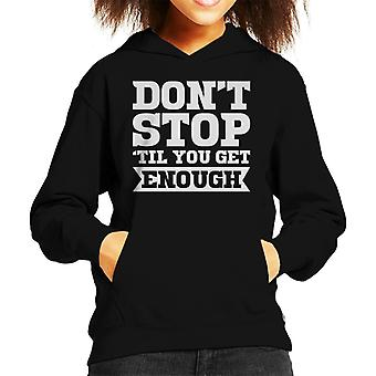 Michael Jackson Dont Stop Til You Get Enough Kid's Hooded Sweatshirt
