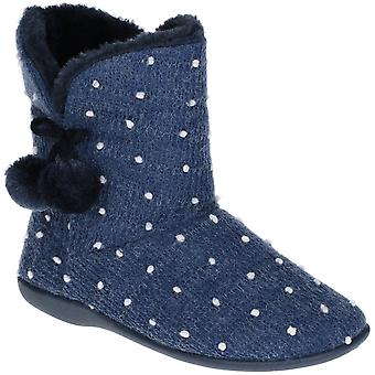 Fleet & Foster Womens Vancouver Knitted Warm Bootie Slippers