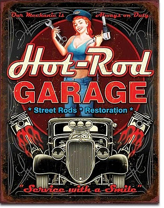 Hot Rod Garage (Pistons) metal sign    (de)
