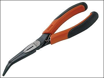Bahco 2427G Bent Snipe Nose Pliers 160mm (6.1/4in)