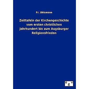 Zeittafeln Der Kirchengeschichte Vom Ersten Christlichen Jahrhundert Bis Zum Augsburger Religionsfrieden by Uhlemann & Fr